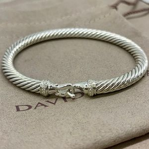 David Yurman 5mm Cable Buckle Bracelet Diamonds